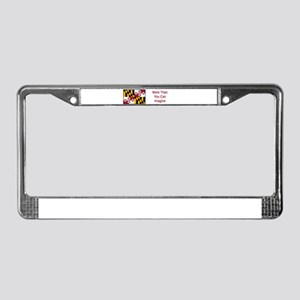 Maryland Motto #4 License Plate Frame