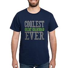 Coolest Great Granddad Ever Dark T-Shirt