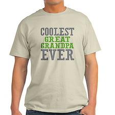 Coolest Great Grandpa Ever Light T-Shirt