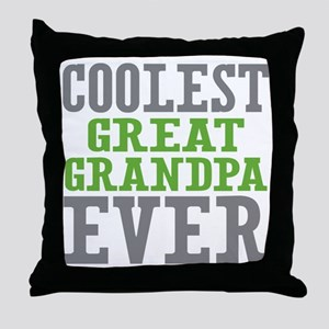 Coolest Great Grandpa Ever Throw Pillow