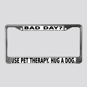 Pet Therapy License Plate Frame
