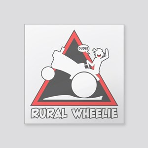 RURAL WHEELIE DANGER TRIANGLE 3t Sticker