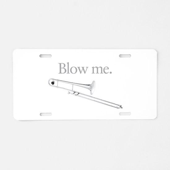 Humorous Trombone Aluminum License Plate