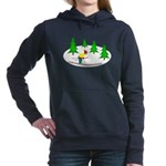 Skiing Hooded Sweatshirt