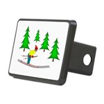 Skiing Rectangular Hitch Cover