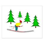 Skiing Small Poster
