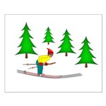 Skiing Small Poster
