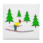 Skiing Tile Coaster