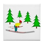 Skiing Tile Coaster