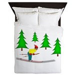 Skiing Queen Duvet