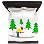 Skiing King Duvet