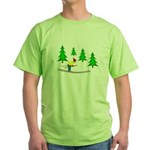 Skiing Green T-Shirt