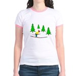Skiing Jr. Ringer T-Shirt