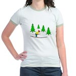 Skiing Jr. Ringer T-Shirt