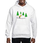 Skiing Hooded Sweatshirt