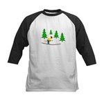 Skiing Kids Baseball Jersey