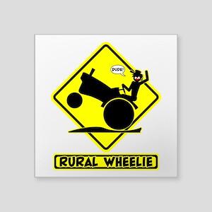 RURAL WHEELIE YELLOW PLACARD 3t Sticker