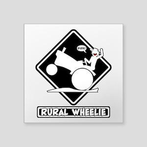 RURAL WHEELIE BLACK PLACARD 3t Sticker