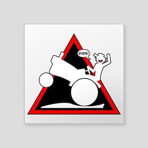 RURAL WHEELIE DANGER TRIANGLE 3 Sticker