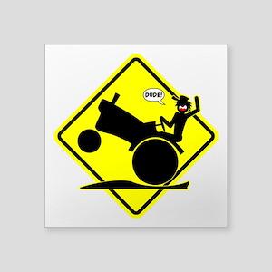 RURAL WHEELIE YELLOW PLACARD 3 Sticker