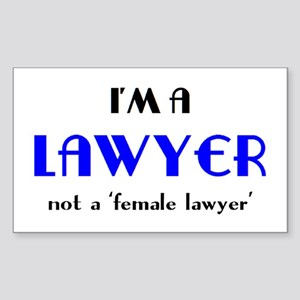 just a lawyer Sticker (Rectangle)