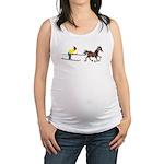 Horse Skijoring Maternity Tank Top