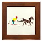 Horse Skijoring Framed Tile