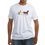 Horse Skijoring Fitted T-Shirt