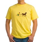 Horse Skijoring Yellow T-Shirt
