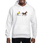 Horse Skijoring Hooded Sweatshirt