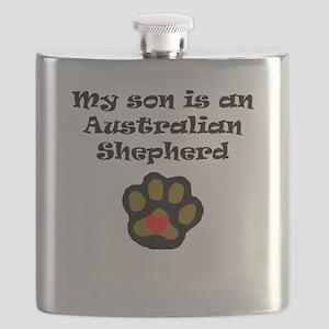 My Son Is An Australian Shepherd Flask