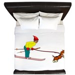 Dog Skijoring King Duvet