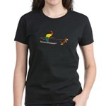Dog Skijoring Women's Dark T-Shirt