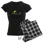 Dog Skijoring Women's Dark Pajamas