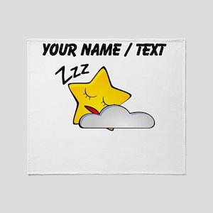 Custom Sleeping Star Cartoon Throw Blanket