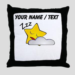 Custom Sleeping Star Cartoon Throw Pillow