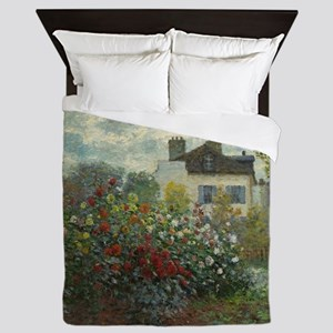 Claude Monet - The Artists Garden in A Queen Duvet