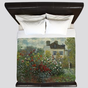 Claude Monet - The Artists Garden in Ar King Duvet