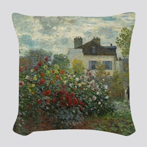Claude Monet - The Artists Gar Woven Throw Pillow