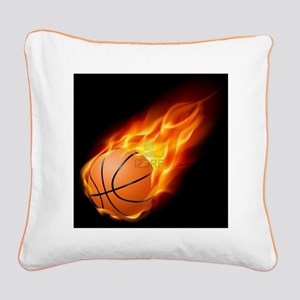 Flaming ball design Square Canvas Pillow