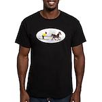 Horse Skijoring Men's Fitted T-Shirt (dark)