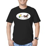 Horse Skijoring Men's Fitted T-Shirt (dark)