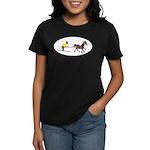 Horse Skijoring Women's Dark T-Shirt