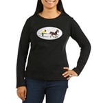 Horse Skijoring Women's Long Sleeve Dark T-Shirt