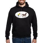 Horse Skijoring Hoodie (dark)