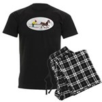 Horse Skijoring Men's Dark Pajamas