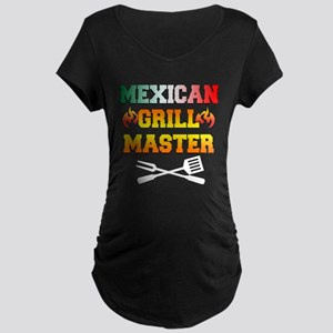 Mexican Grill Master Apron Maternity T-Shirt