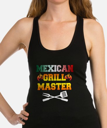 Mexican Grill Master Apron Racerback Tank Top