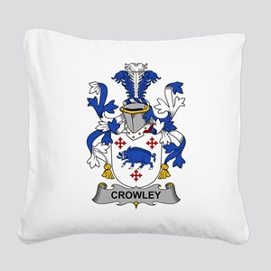 Crowley Family Crest Square Canvas Pillow