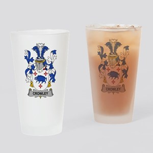 Crowley Family Crest Drinking Glass